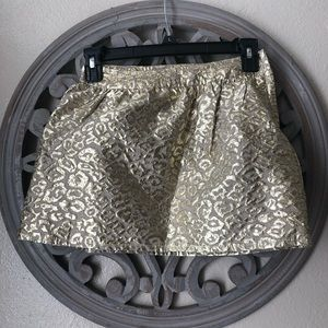 Children's places gold embossed leopard skirt